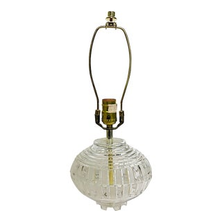 Art Deco Crystal Lamp With Harp & Finial