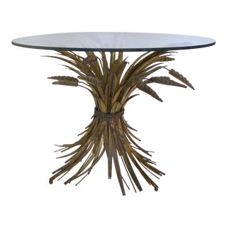 "Italian Gilt Iron "" Coco Chanel"" Side Table"