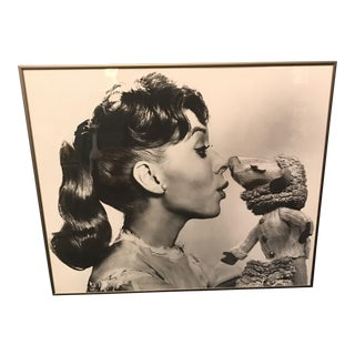 Vintage Television Publicity Photograph of Shari Lewis and LampChop