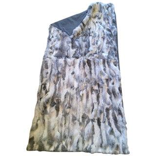 Multi-Color Sheer Fur & Cashmere Throw