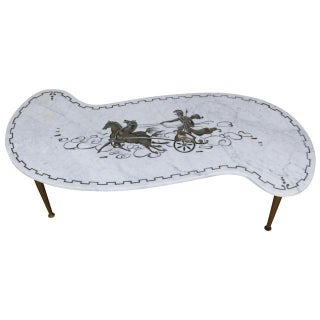 Neoclassical Marble Carrara Coffee Table