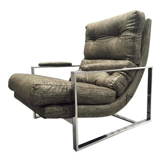 Chrome Tufted Lounge Chair