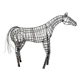 Brutalist Wire Horse Sculpture