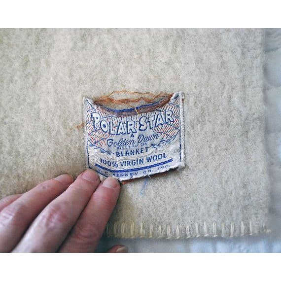 1940s Striped Wool Camp Blanket - Image 5 of 7