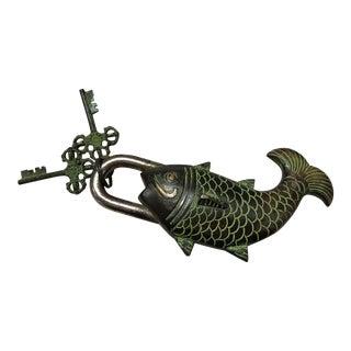 Tibetian Mystery Koi Fish Lock & Keys
