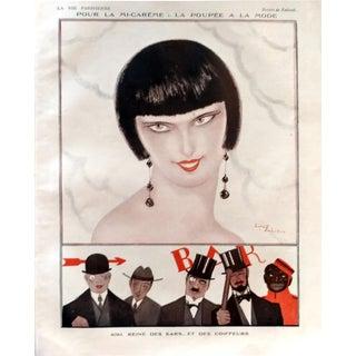 "1924 Zaliouk La Vie Parisienne ""Queen of the Bar"" Print"