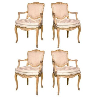 Louis XV Style Armchairs by Jansen - Set of 4