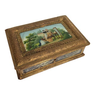 French Eglomise Paper Work Box