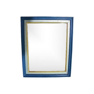 Double Framed Giltwood & Blue Mirror
