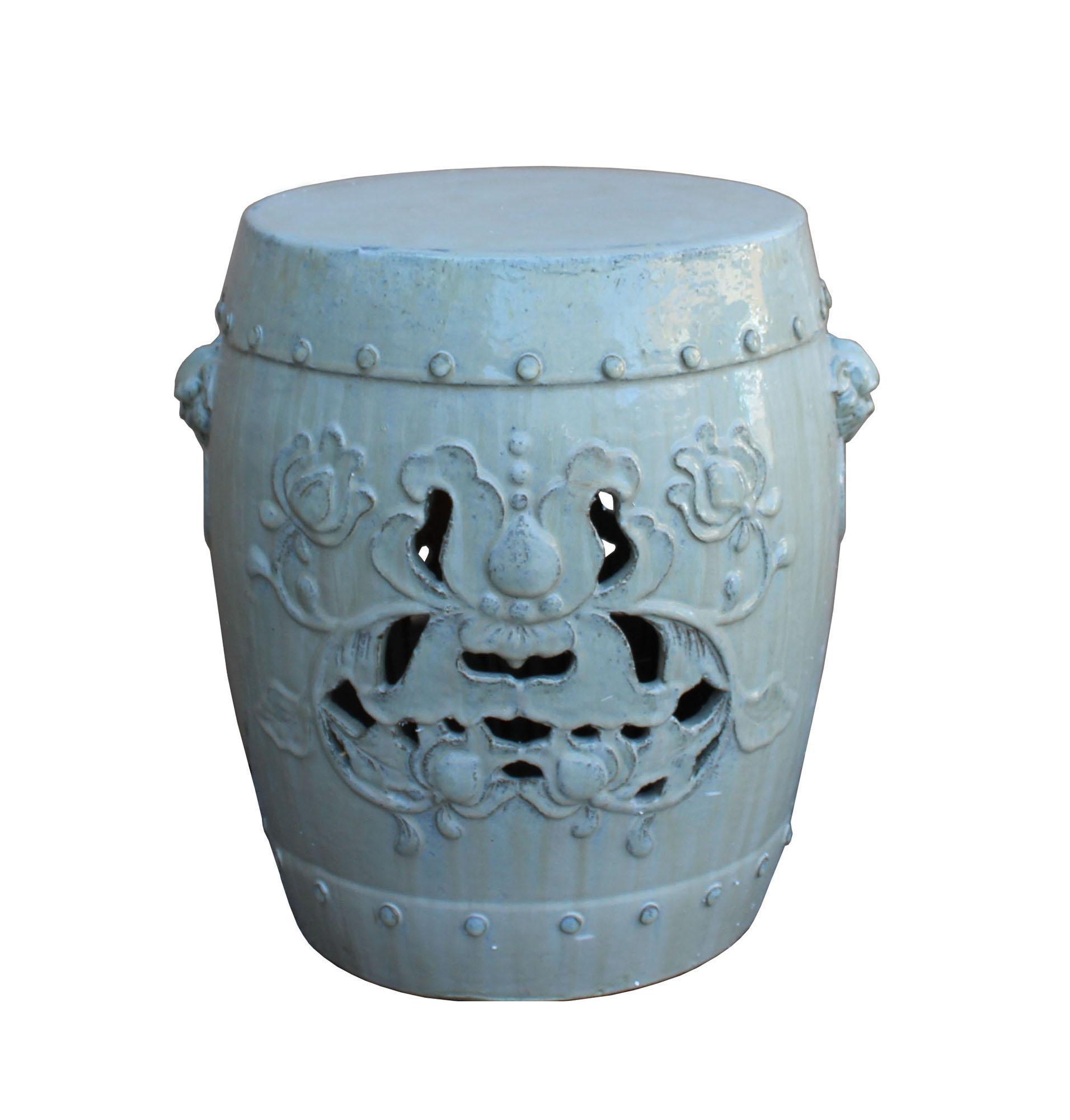 Chinese Off White Round Lotus Clay Ceramic Garden Stool Table  sc 1 st  Chairish & Vintage u0026 Used Garden Stools   Chairish islam-shia.org