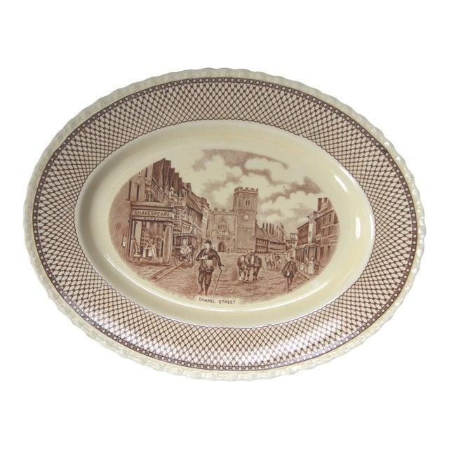 Myott Brown Transferware 'Shakespeare' Serving Platter - Image 1 of 5