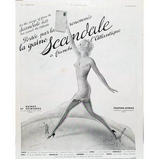 """1937 M.S De Saint Marc """"Scandale"""" Lingerie Ad"""