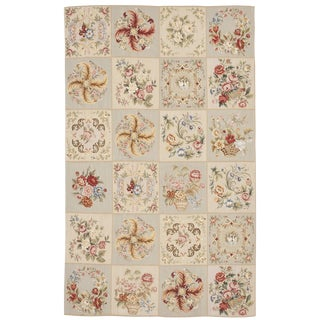 Chinese Floral Aubusson Rug - 5'x 8'
