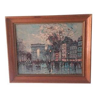 Vintage Antoine Blanchard Parisian Scene