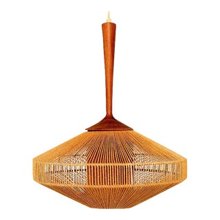 Fog & Morup Scandinavian Teak and Rope Light Fixture