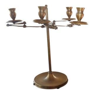 Art Nouveau Mid-Century Brass Articulating Candelabrum