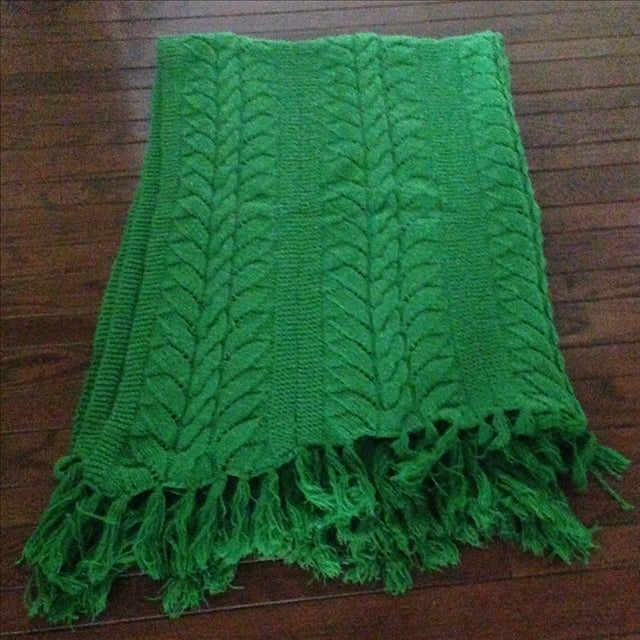 Vintage Emerald Green Throw Chairish