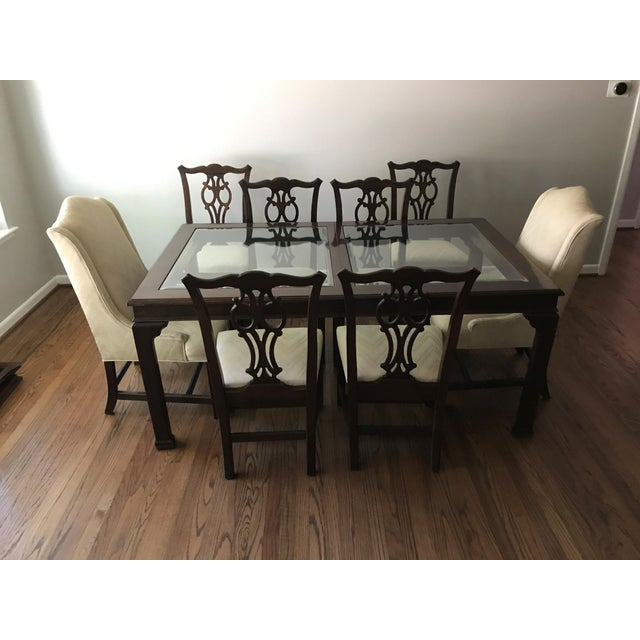 Ethan Allen Georgian Court Style Dining Set Chairish