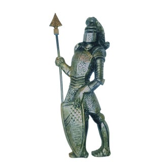 Large Mid Century Metal Knight Wall Decor