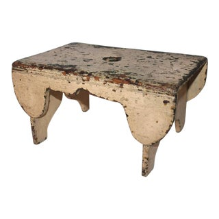 Early 19th Century Bench in Original Putty Paint