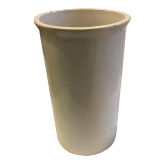 White Glazed Ceramic Umbrella Stand