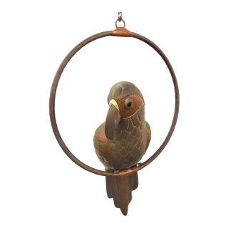 1970s Sergio Bustamante Parrot Sculpture