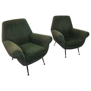 Italian Mid-Century Modern Club Chairs - A Pair