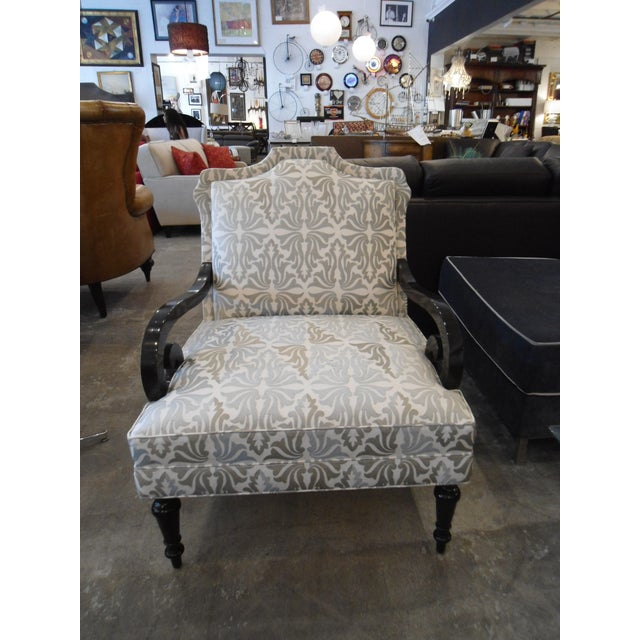 White & Silver Bergere Arm Chair - Image 3 of 10