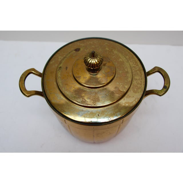 Brass Ice Bucket with Glass Liner - Image 4 of 6
