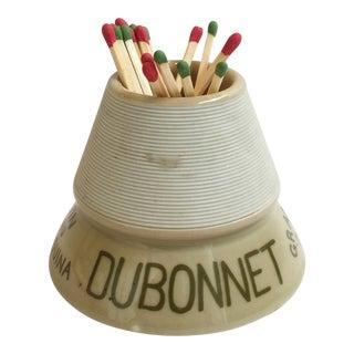 French Cafe Dubonnet Match Holder & Striker