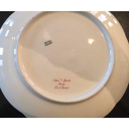 "Limoges Handpainted Plate ""Pitlin & Brooks"" - Image 3 of 3"