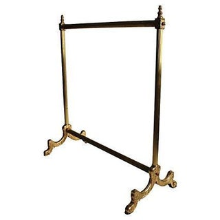 Italian Brass Blanket Holder