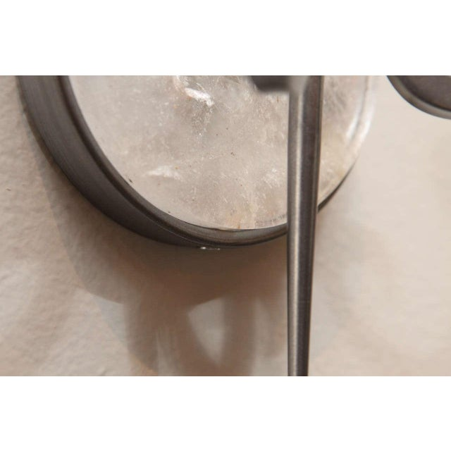 Pewter and Rock Crystal Sconces - Image 8 of 9