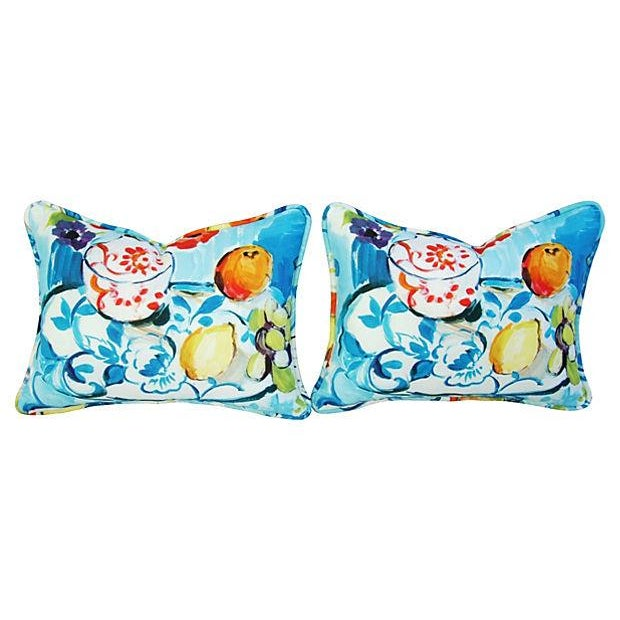 Designer Ronnie Gold Cezanne Style Pillows - Pair - Image 2 of 7