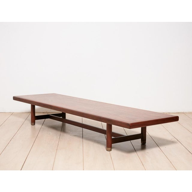 Image of Modernist Walnut Low Bench/Table