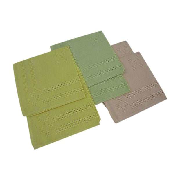 German Pastel Napkins - Set of 6 - Image 1 of 5