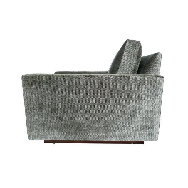 1970s Milo Baughman Gray Cube Chair - Image 4 of 8