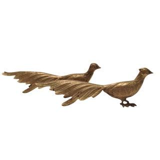 Brass Pheasant Figurines - A Pair