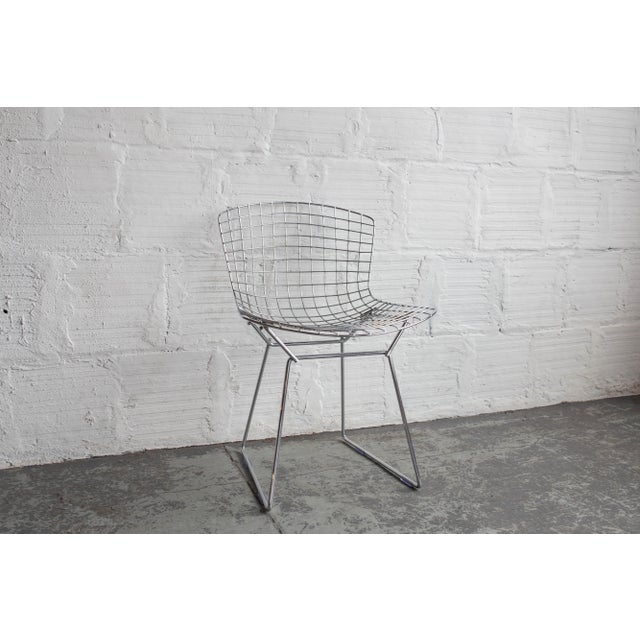 Knoll Bertoia Black Padded Wire Side Chair - Image 7 of 8