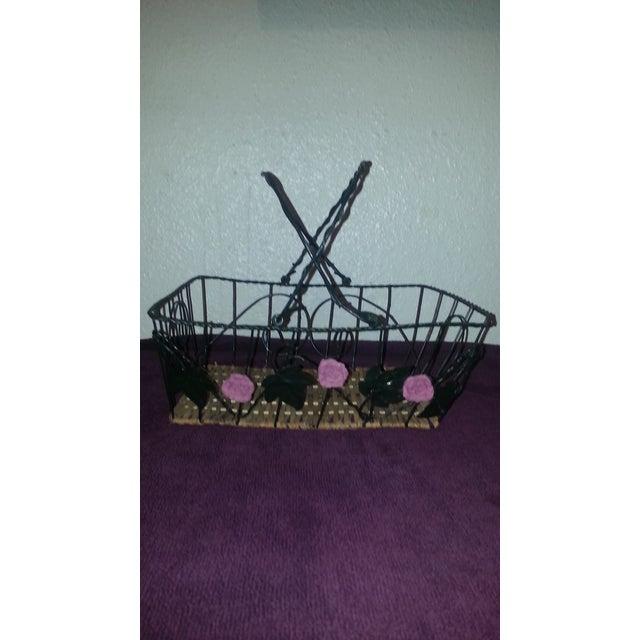 Wicker & Wire Basket - Image 5 of 5