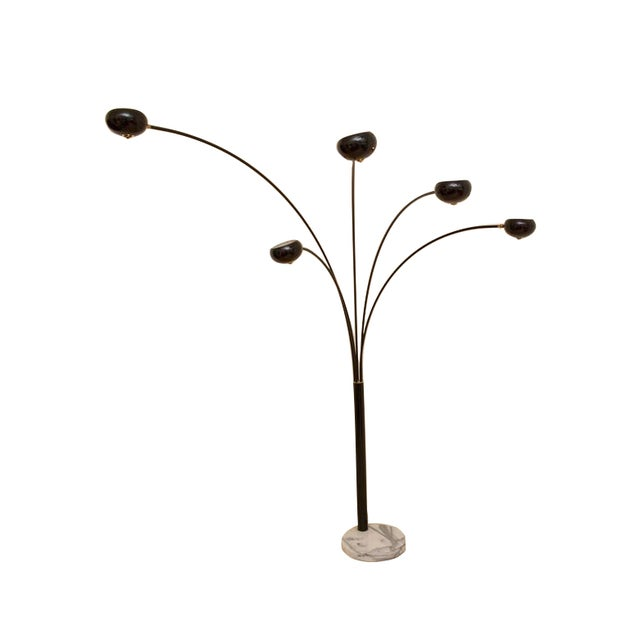 Image of MCM Original Arc Lamp With Marble Base