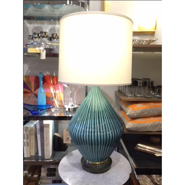 Image of Mid-Century Modern Large Ceramic Table Lamp