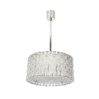 Fantastic Kaiser Primat IceTextured Crystal Drum Chandelier