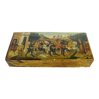 Florentine Wood Decoupage Box