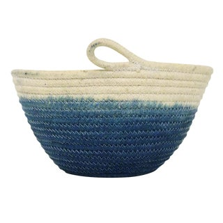 High Tide Style Indigo Dyed Rope Basket