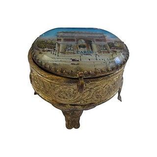 Antique Arc De Triomphe Paris Souvenir Ring Box