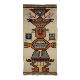 """Hand Knotted Mexican Kilim Rug - 4'7"""" X 2'1"""""""