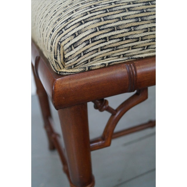 Image of Councill Craftsman Faux Bamboo Ottoman