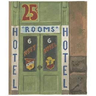 "Witold Gordon Gouache, ""West Hotel - Vanity Fair"""