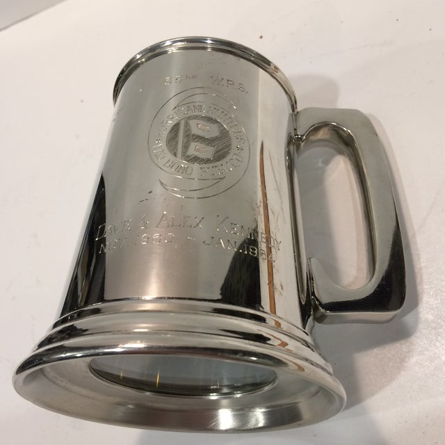 "Vintage Pewter ""53RD"" W.R.S. Hurricane Hunter Beer Stein - Image 2 of 11"